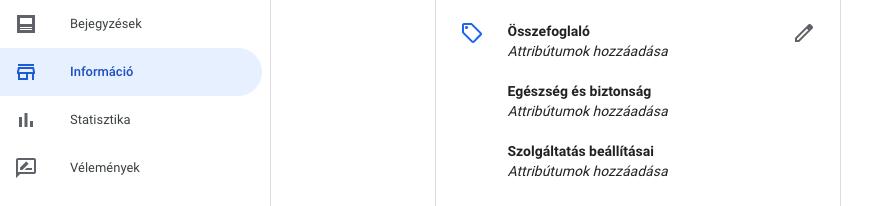 opciók listája)
