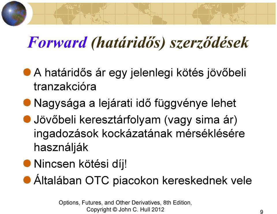 forward opciók csere)