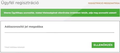 regisztráció token internetes bevételekben)