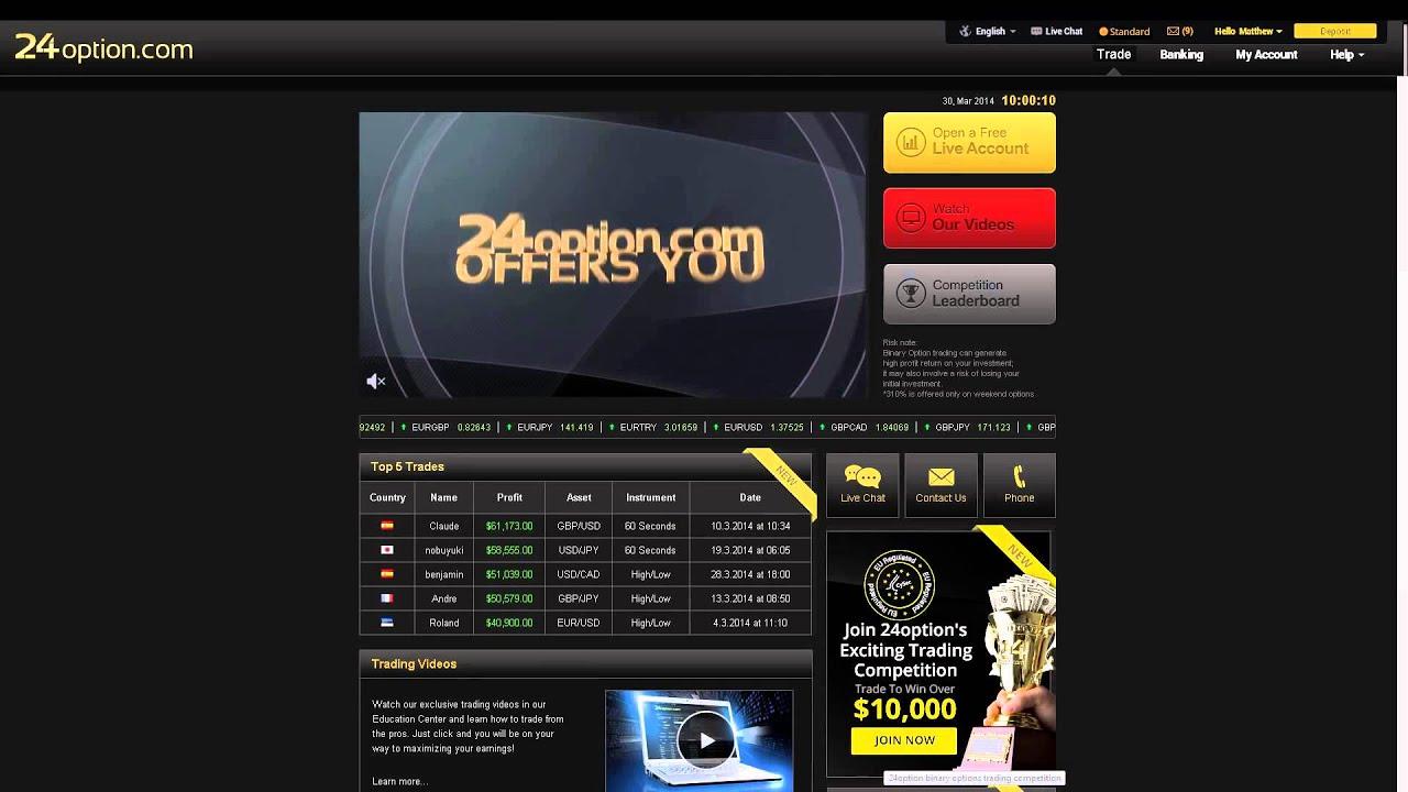 platform 24 opton bináris opciók videó