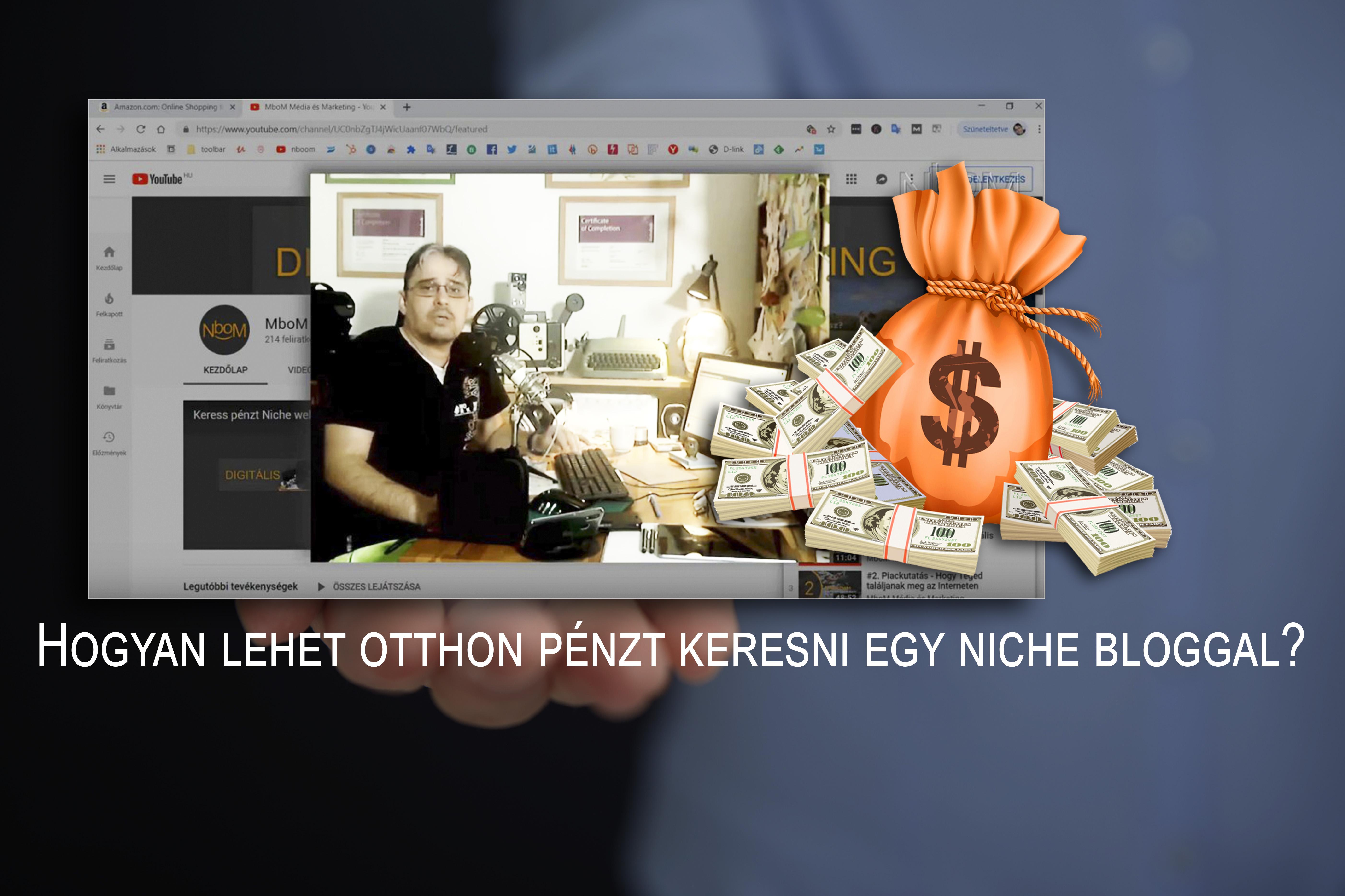 hogyan lehet pénzt keresni az internetes csatornákon