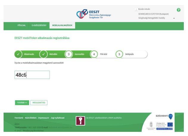 token weboldal regisztráció