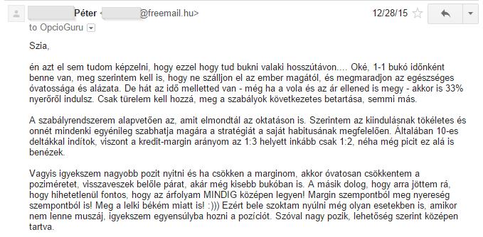 opciós szabályok)