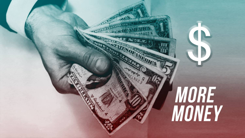 pénzt dollárban